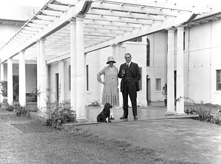 Stanley and Ethel Bruce after moving into The Lodge, 1926 Nla Bruce thelodge.jpg