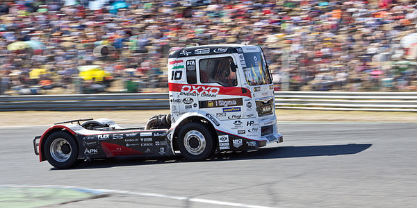 Truck pilot Norbert Kiss at the Spain Truck GP 2013.