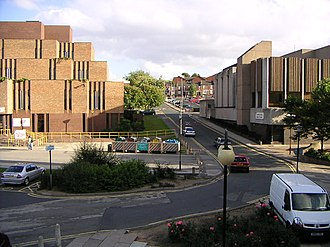 Metropolitan Borough of Rotherham - Former Rotherham Council Offices (left) in central Rotherham