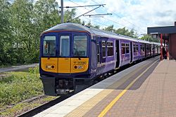 Northern Electrics Class 319, 319380, platform 6, Wigan North Western railway station (geograph 4499943).jpg