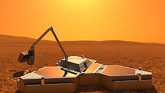 Northern Light (spacecraft) - Northern Light Lander on Mars (artist's impression)