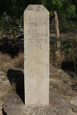 Photo of Mission Nuestra Senora de la Candelaria stone plaque