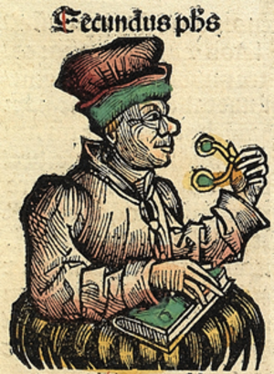 Secundus the Silent - Secundus, Nuremberg Chronicle.