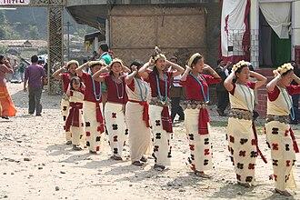 Nyishi people - A festival of the Nyishi tribe of Arunachal Pradesh, India.