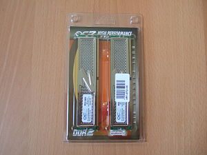 Enthusiast computing - A pair of DDR2 memory modules.
