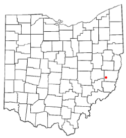 Location of Barnesville, Ohio