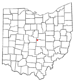 Location of Hartford, Ohio