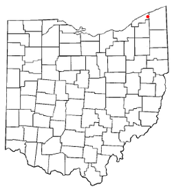 Location of Madison, Ohio