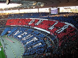 OM-PSG en finale de la coupe de la France en 2006.