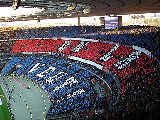 Paris Saint-Germain F.C. - PSG fans before the 2006 Coupe de France Final against arch-rivals Olympique de Marseille.