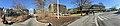 Oasen shopping mall (kjøpesenter, bydelssenter) in Folke Bernadottes vei, Fyllingsdalen, Bergen, Norway. Other buildings, etc. Distorted panorama 2018-03-17 A.jpg
