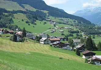 Obersaxen - Image: Obersaxen westwärts