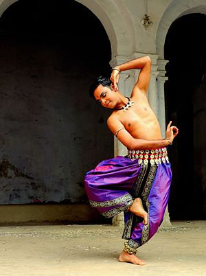 Odissi - A male Odissi dancer