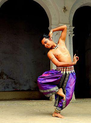 Odissi - A male Odissi dancer