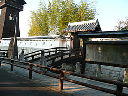 Reconstructed gate of Ōguchi Castle