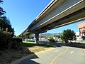 Ohlone Greenway and R-Line viaduct (3), July 2020.JPG