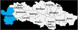 Poprad District - Image: Okres poprad