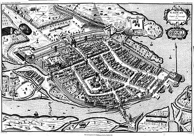 Galway; the last Irish town to fall to the Parliamentarians, in 1652. Old-Galway.jpg