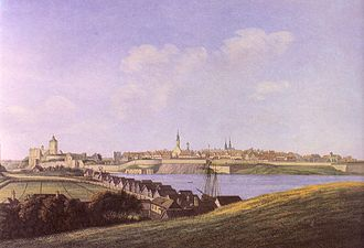 Narva - View of Narva in the 1750s