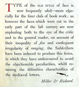 Modernised Old Style (typeface) - Image: Old Style