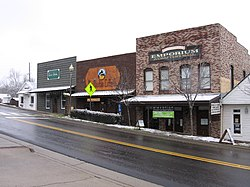 """Old Town"" Helena during a rare snowfall on January 19, 2008. These buildings date to the late 1800s."