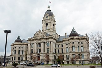 Old Vanderburgh County Courthouse - Image: Old Vanderburgh County Courthouse, Evansville, IN, US