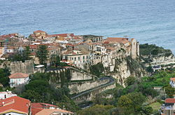 View of the historic centre of Tropea