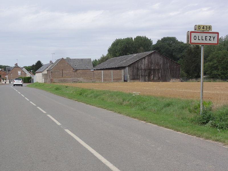 Ollezy (Aisne) city limit sign
