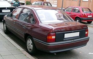 Opel Vectra - Image: Opel Vectra rear 20071109