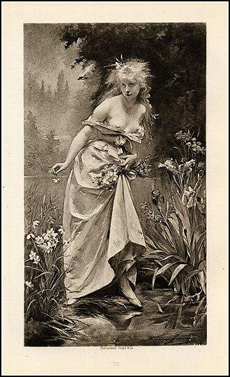 Madeleine Lemaire - Image: Ophelia (1880), de Madeleine Lemaire (1845 1928)