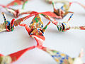 Origami Cranes folded by Takako Shimizu from Hiroshima (11050456756).jpg