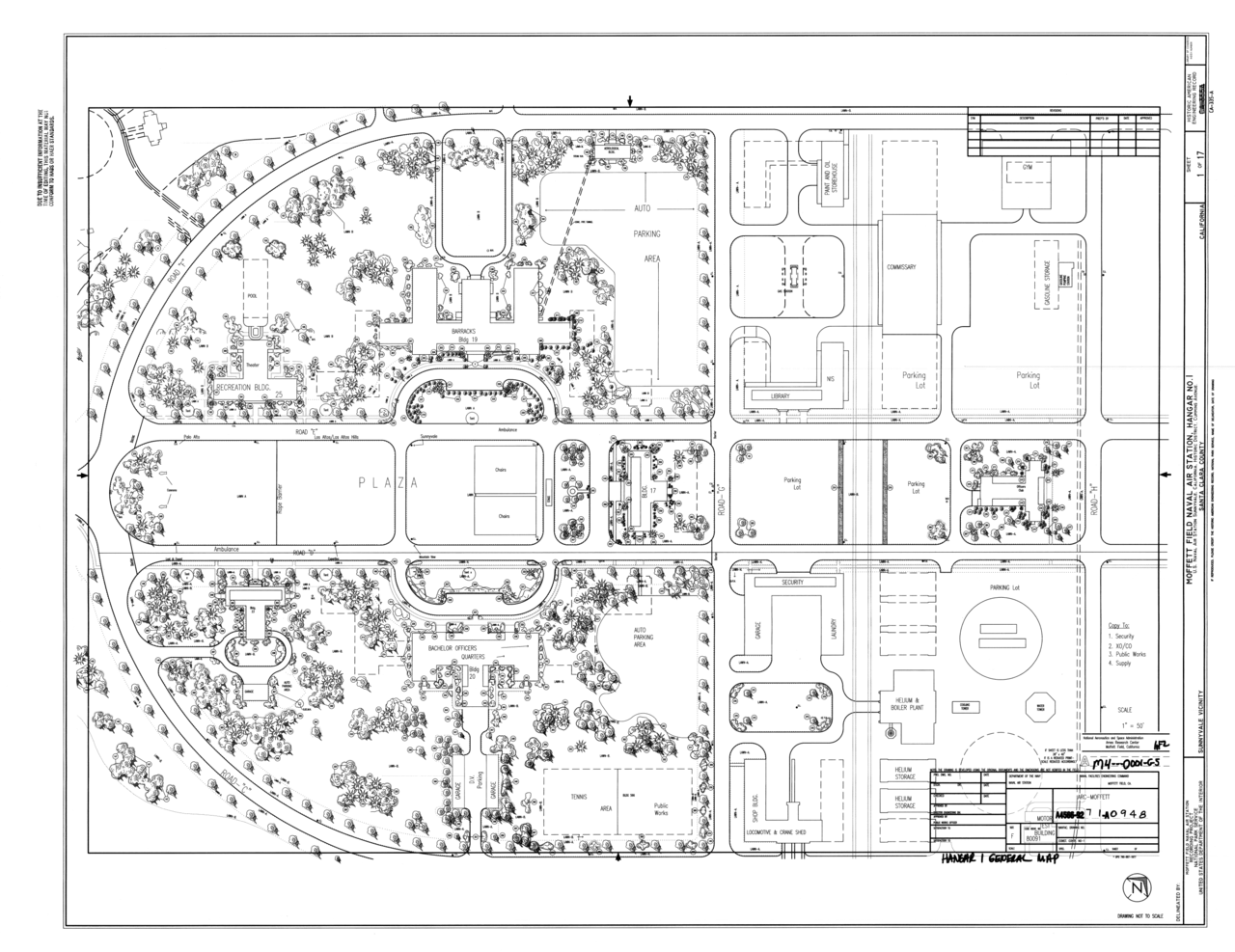 File original drawing site plan naval air station for Site plan drawing online