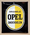 Originele OPEL onderdelen, Enamel advert sign at the den hartog ford museum pic-023.JPG