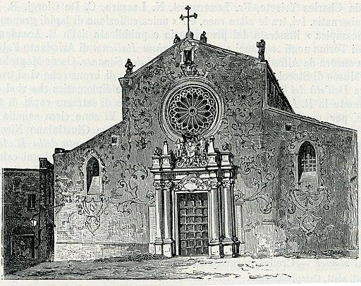Otranto facciata della cattedrale xilografia