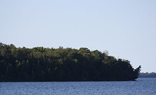 island in Ashland County, United States of America