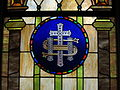 Our Lady of Consolation (Carey, Ohio) - St. Edward Church, stained glass, Holy Monogram.jpg