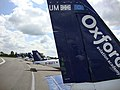 Oxford Aviation Academy airplanes on the apron of London Oxford Airport, Oxfordshire, UK - 20130124.jpg
