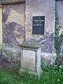 Písek, hřbitov u Trojice, hrob - František Bezděka.jpg