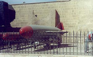 Egyptian National Military Museum - P-15 Termit anti-ship missile, of the type that sank INS Eilat in 1967