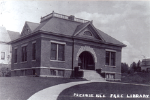 A Photograph of the Presque Isle Free Library, 1947.