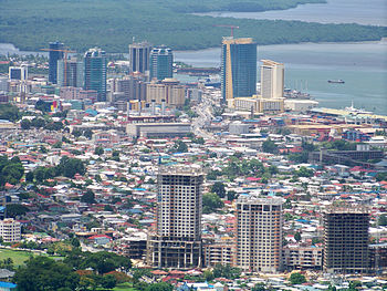 Skyline of the city of Port of Spain