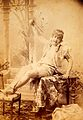 PP-KEB-E-6-4, Man seated, wearing ladies shoes and stockings Wellcome L0031642.jpg