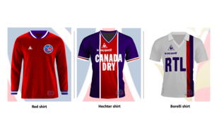 The three most iconic shirts of Paris Saint-Germain Football Club.