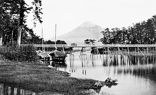 PSM V43 D350 Fuji san sacred mountain of japan from tango lake.jpg