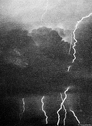 Lightning clouds multiple flash