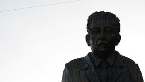Pablo de Rokha -  Statue of Pablo de Rokha in his hometown of Licantén, Chile