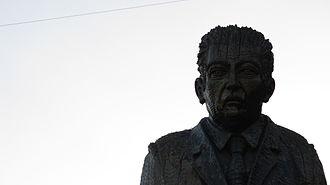 Pablo de Rokha -  Statue of Pablo de Rokha in his hometown of Licantén, Chile