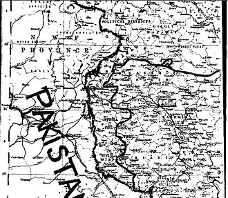 Siachen conflict - Page-2 of U.N. Map Number S/1430/Add.2 showing the CFL
