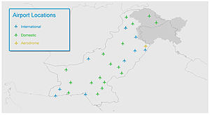 Pakistan Civil Aviation Authority - Map of airports in Pakistan