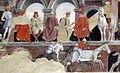 Palazzo schifanoia, salone dei mesi, 04 aprile (f. del cossa), Borso assiste al Palio di San Giorgio e dà moneta al buffone Scoccola 07 2.jpg